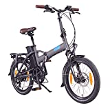NCM London Bicicleta eléctrica Plegable, 250W, Batería 36V 15Ah 540Wh, 20' (Gris)