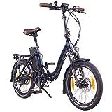 """NCM Paris (+) Bicicleta eléctrica Plegable, 250W, Batteria 36V 19Ah • 684Wh, 20"""" (Azul+)"""