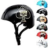SkullCap® Casco BMX Bici y Casco Skate - Hombres Mujeres Niños y Niños, Design: Gris, Talla: S (53 – 55)